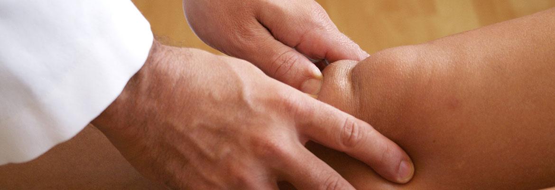 behandling af ligamentum rotuleus (behandling af knæskallens seneledbånd)